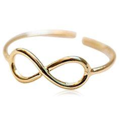Macri Infinity - Gold Toe Ring