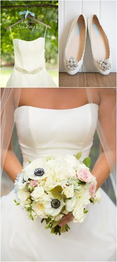 Roses and so many other flowers (anemones) are so lovely together in this pastel bouquet (I see a hydrangea, too). :)  Hill City Bride - Aaron Watson Photography - Wedding Bouquet