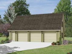 3 Car Garage With Loft | Plan 10-070 - Just Garage Plans
