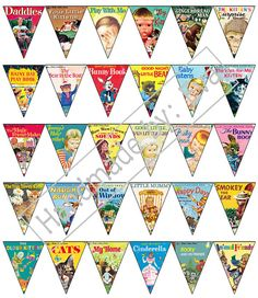 Little Golden Book Printable Bunting by EvasHandmadeThings on Etsy {HOW CUTE!!! Definitely gona get this!!!!!}
