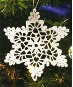 Christmas Tree Ornament Snowflake Crochet Patterns Book