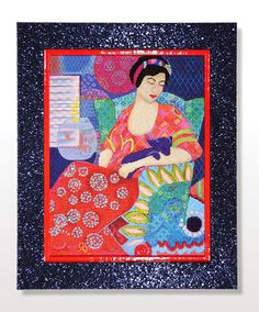 It's not your Grandmother's Needlepoint: Bohemian Beauty  http://www.notyourgrandmothersneedlepoint.com/2014/11/shes-home-from-framer.html