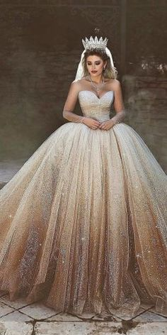 15 Gold Wedding Gowns For Bride Who Wants To Shine ❤️ gold wedding gowns ball gown sweetheart neckline champagne ombre saidmhamadofficial The post 15 Gold Wedding Gowns For Bride Who Wants To Shine appeared first on Güzel Ege - Bilgi ve Destek Platformu. Gold Wedding Gowns, Western Wedding Dresses, Colored Wedding Dresses, Dream Wedding Dresses, Bridal Gowns, Wedding Bride, Wedding Ceremony, Luxury Wedding, Floral Wedding