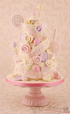 Sugar and Spice Rock n Roll Babydoll Cake