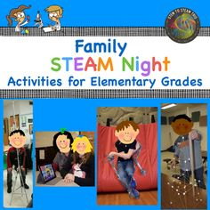 This resource has everything you need for a successful Family STEM Night!  Purchasing this will save you hours and hours of work!  This includes: - a page detailing our experience and tips for holding the event - a STEAM night checklist to ensure things run smoothly - an invitation to send home to families - 8 detailed STEAM challenges:      - Making Hoop Gliders      - Making Musical Instruments      - Creating the Longest Chain      - Building Catapults      - Constructing Spagetti Towers…