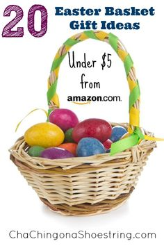 20 (Non-Candy) Easter Basket Gift Ideas Under $5 from Amazon from brands like LEGO, Disney, Melissa & Doug, Crayola and more! #easter gift ideas, lego, easter basket, basket gift