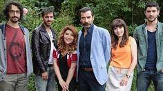 """Ulan Istanbul"" tv series...left to rigth Caner Ozyurtlu, Erkan Kolcak Kostendil, Sebnem Bozoklu, Ugur Polat, Sevtap Ozaltun, Kaan Yildirim."