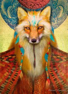 Wise Fox, art print, Aimee Stewart, Foxfires DeviantArt