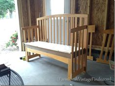 From Crib to Bench, Here's How I did it - Farm Fresh Vintage Finds