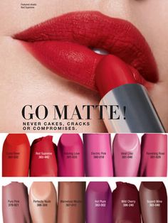 avon perfectly matte lipstick swatches