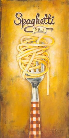 Spaghetti Poster by Elisa Raimondi at AllPosters.com