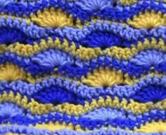 How to Crochet A Wavy Shell Afghan. Using shell stitches and single crochet, see how easy it is to make this afghan. Afghan Patterns, Crochet Stitches Patterns, Stitch Patterns, Crochet Afghans, Crochet Blankets, Crochet Crowd, Free Crochet, Bernat Super Value Yarn, Pinterest Crochet