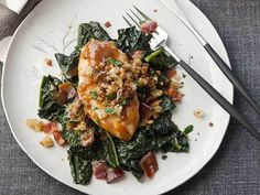 Maple-Glazed Chicken Breasts with Mustard Jus