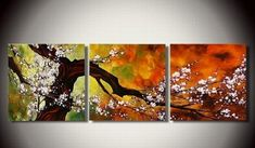Abstract Art, Plum Tree in Full Bloom, Large Oil Painting, Living Room – Art Painting Canvas Tree Of Life Painting, Hand Painting Art, Oil Painting Abstract, Abstract Wall Art, Painting Canvas, Online Painting, Abstract Landscape, Painting Clouds, Painting Classes