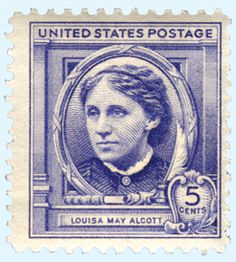 Louisa May Alcott (1832-1888) - a five-cent stamp issued in 1940