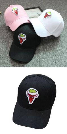 High Recommend More Funny Unisex Snapback Ice Cream Hats Hip-Hop Adjustable Hat Baseball Cap womens baseball caps men hats touca