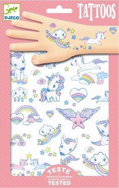 Leuk als traktatie - DJECO tattoo's Unicorns