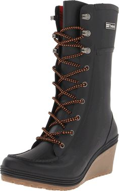 Tretorn Plask Lace Women Round Toe Synthetic Black Rain Boot >>> New and awesome product awaits you, Read it now  : Boots