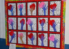 Pearce's Art Room : Hand Holding Heart Valentines Art Lessons, Valentines Art For Kids, Valentine Activities, Classroom Art Projects, Art Classroom, Hands Holding Heart, Hand Holding, 2nd Grade Art, Winter Art Projects