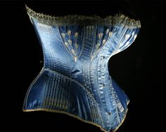 "fripperiesandfobs: "" Corset ca. 1876 From Les Arts Decoratifs via Artdaily.org """