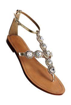 6506131b20d55b Brides.com  Wedding Shoes You ll Want to Wear. Embellished Flat Sandals