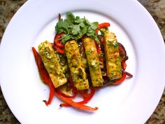 Citrus-Marinated Tofu with Onions and Peppers [Photograph: Nick Kindelsperger] Adapted from Bon Appétit....