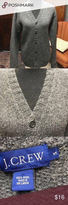 J Crew Sweater Beautiful charcoal 100 % wool cardigan J. Crew Sweaters Cardigans