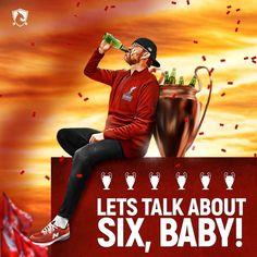 Jurgen Klopp Liverpool FC Lets talk about SIX, baby! Liverpool Stadium, Camisa Liverpool, Liverpool Logo, Gerrard Liverpool, Anfield Liverpool, Liverpool Champions League, Salah Liverpool, Liverpool Players, Champs