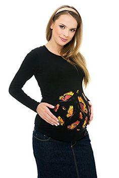 My Tummy Maglietta premaman Farfalle nera L (large) My Tummy http://www.amazon.it/dp/B00O28HU5Y/ref=cm_sw_r_pi_dp_8Dh3vb1FV2D4J
