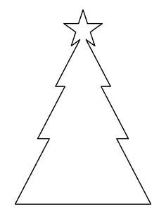 Triangle Christmas Tree Pattern Use The Printable Outline For Crafts Creating Stencils Scrapbooking