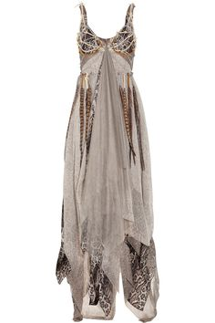 Haute Hippie Dreamcatcher silk-chiffon gown.