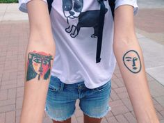 Picasso tattoo uploaded by tapanga. on We Heart It Picasso Tattoo, Matisse Tattoo, Piercing Tattoo, Piercings, Body Art Tattoos, Cool Tattoos, Wrist Tattoos, Small Tattoos, Web Design