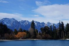Snowy South Island mountains.