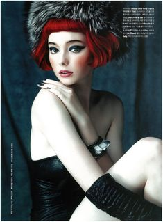 Lydia Hunt Noblesse beauty spread November 2012 4 – Beauty and Make Up Pictures