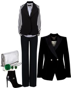 """""""black & white"""" by htimss ❤ liked on Polyvore"""