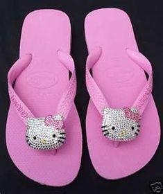 Hello Kitty Flip- Flops! Want!