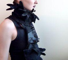 Black glove scarf by horseflesh on Etsy