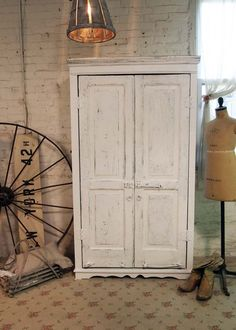 Painted Cottage Chic Shabby White Handmade by paintedcottages, via Etsy.