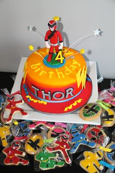 Power Rangers Cake & Cookies | yum