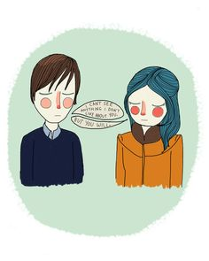 I Can't See Anything I Don't Like About You Art Print by Nan Lawson Eternal Sunshine of the Spotless Mind