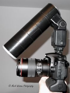 Wow... homemade flash diffuser for macros, made with a pringles can..............Creative.