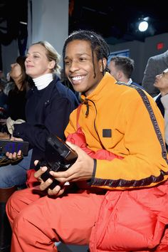 See All the Celebrities Sitting Front Row at New York Fashion Week Beautiful Boys, Pretty Boys, Beautiful People, Asap Rocky Wallpaper, Lord Pretty Flacko, A$ap Rocky, Tyler The Creator, Calvin Klein Collection, Fine Men