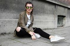 Get this look: http://lb.nu/look/8175529  More looks by Marketa S.: http://lb.nu/marketas  Items in this look:  Bershka Bomberjacket, Adidas Sneaker, Bershka Jeans   #artistic #casual #sporty