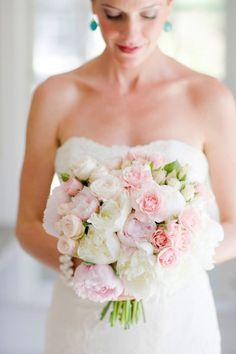 softest blush + white bouquet