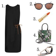 LE CATCH: summer lbd and sandals outfit
