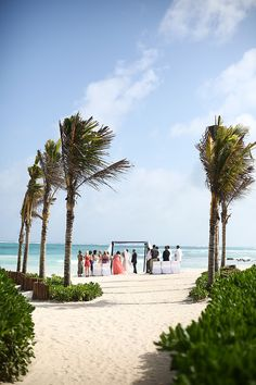 Destination Beach Wedding In Tulum Mexico By Carly Loves Amos Photography Dreams Resort