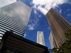 Skyscraper in Shinjuku, Tokyo 新宿三井ビル&新宿センタービル