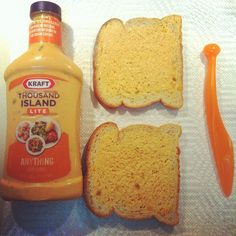 Bored with mayo & mustard for your sandwich? Use salad dressing instead.