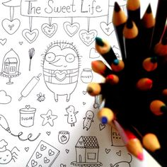 Gingerbread Coloring Page for Adults or Kids by LadyLucasStore