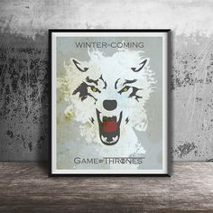 Movie poster printGame of Thrones posterWinter is by OandBstudios